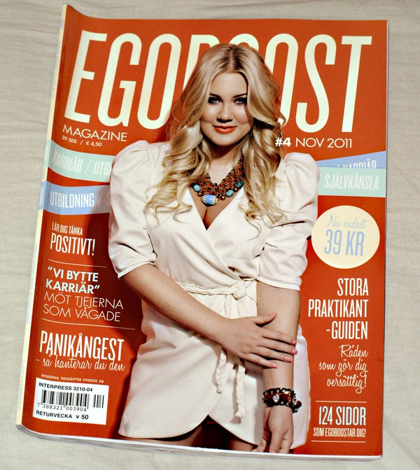 Egoboost Magazine nummer #4 november 2011 orange blondinbella Isabella Löwengrip