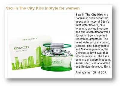 Bildkälla: http://www.fragrantica.com/perfume/InStyle/Sex-in-The-City-Kiss-9632.html