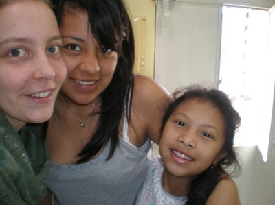 Me and my sisters in Guatemala City, Itza and Margarita.