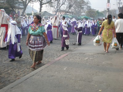 People in procession on Holy Wednesday.