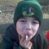Little Kid Committing Suicide By Smoking!