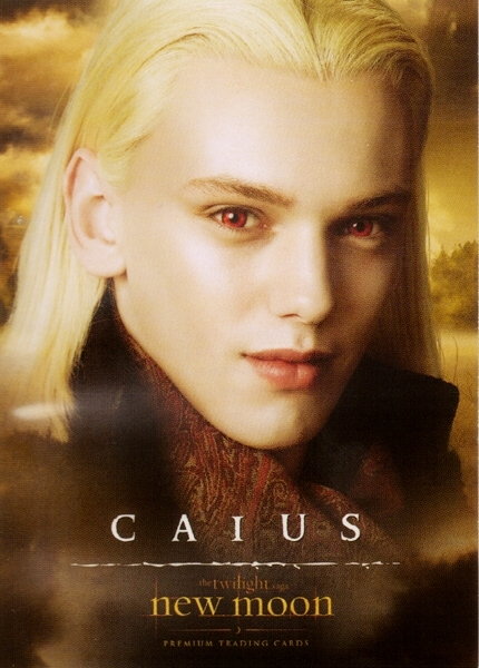 caius new moon trading cards