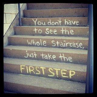 You dont have to see the whole staircase. Just take the first step.