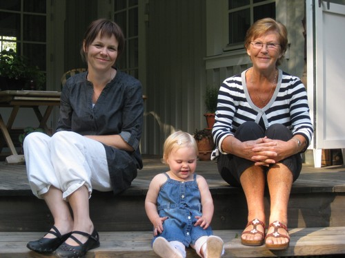 Evelina, Alice & mormor Stina