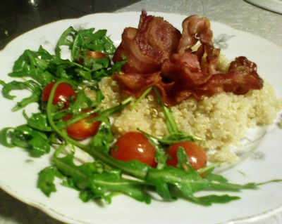 Quinoa med bacon