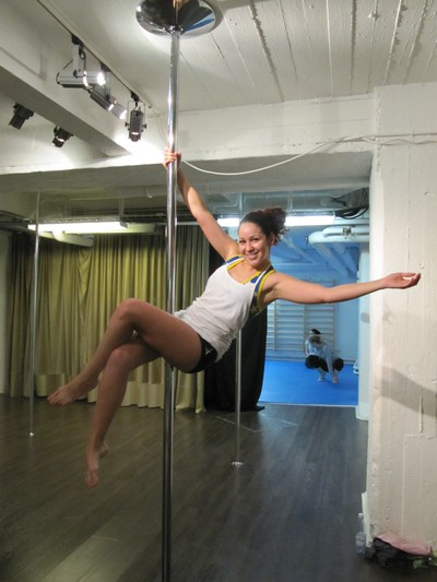 Leslita on the pole