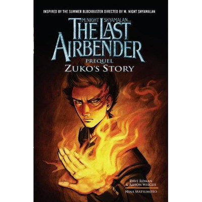 Omslaget till The Last Airbender: Prequel: Zuko's Story.  Made by: nina matsumoto