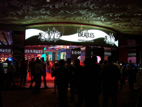 Beatles Love show entrance
