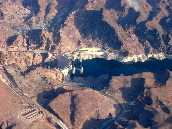 The giant Hoover dam