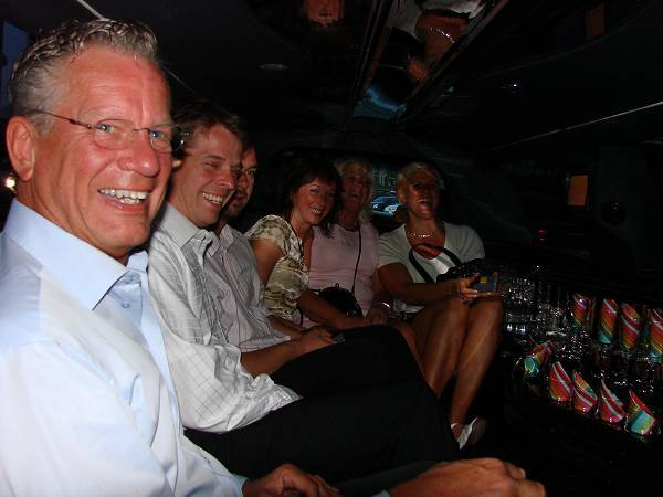 Eight persons going limo