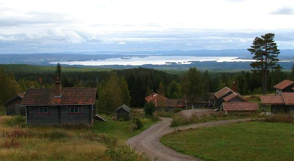 Scenic view of Orsa lake from Fryksås