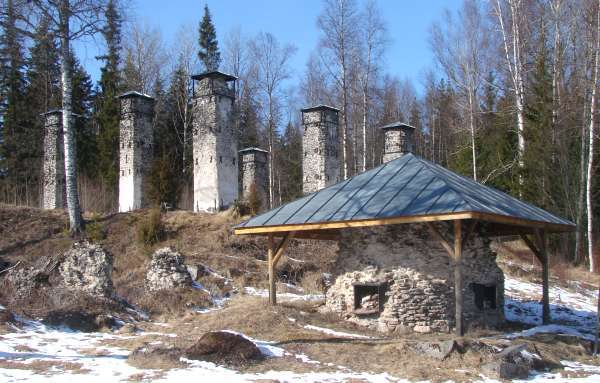 Parts of smelting house site