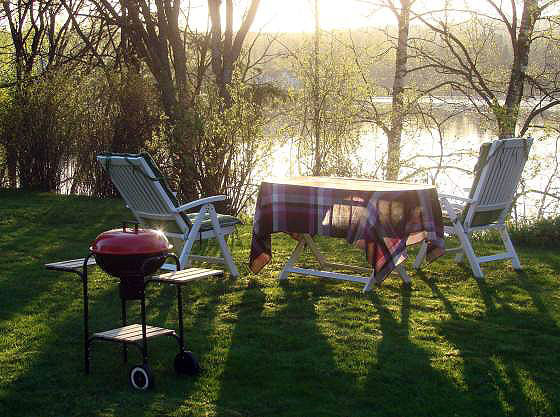 First barbecue evening at Dalälven