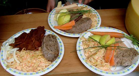 Lunch food at medieval market in Leksand