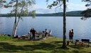 Swedish summer party at lake Vaesman