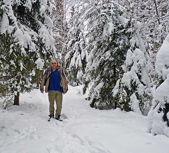 Me in winter forest - again