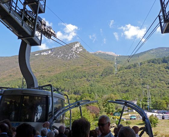 Upper part of the cableway