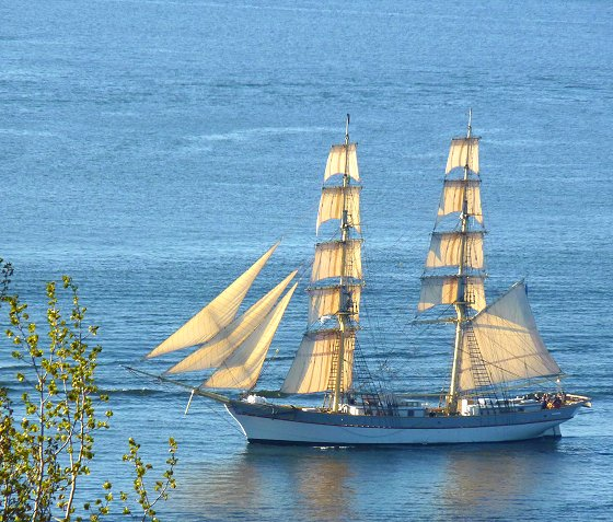 Sailing ship at the Salt Sea of Stockholm