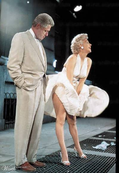 Bill Clinton och Marilyn Monroe