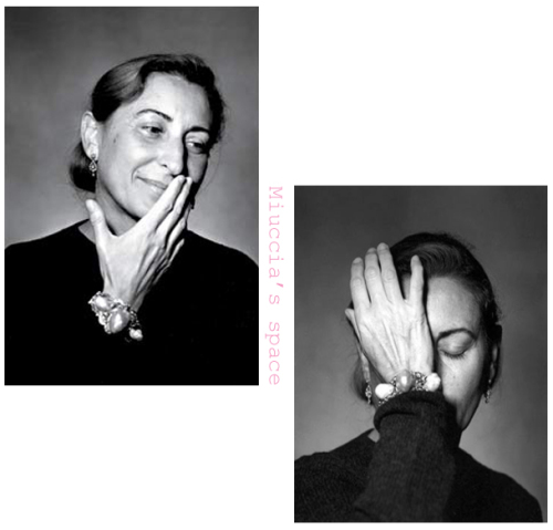 Miuccia Prada by Guido Harari