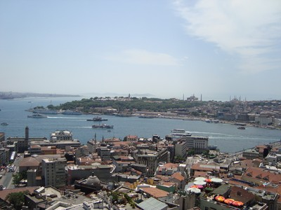 Vıew over the Golden Horn from the Galata Tower.