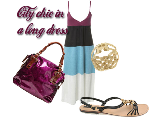 city chic a long dress
