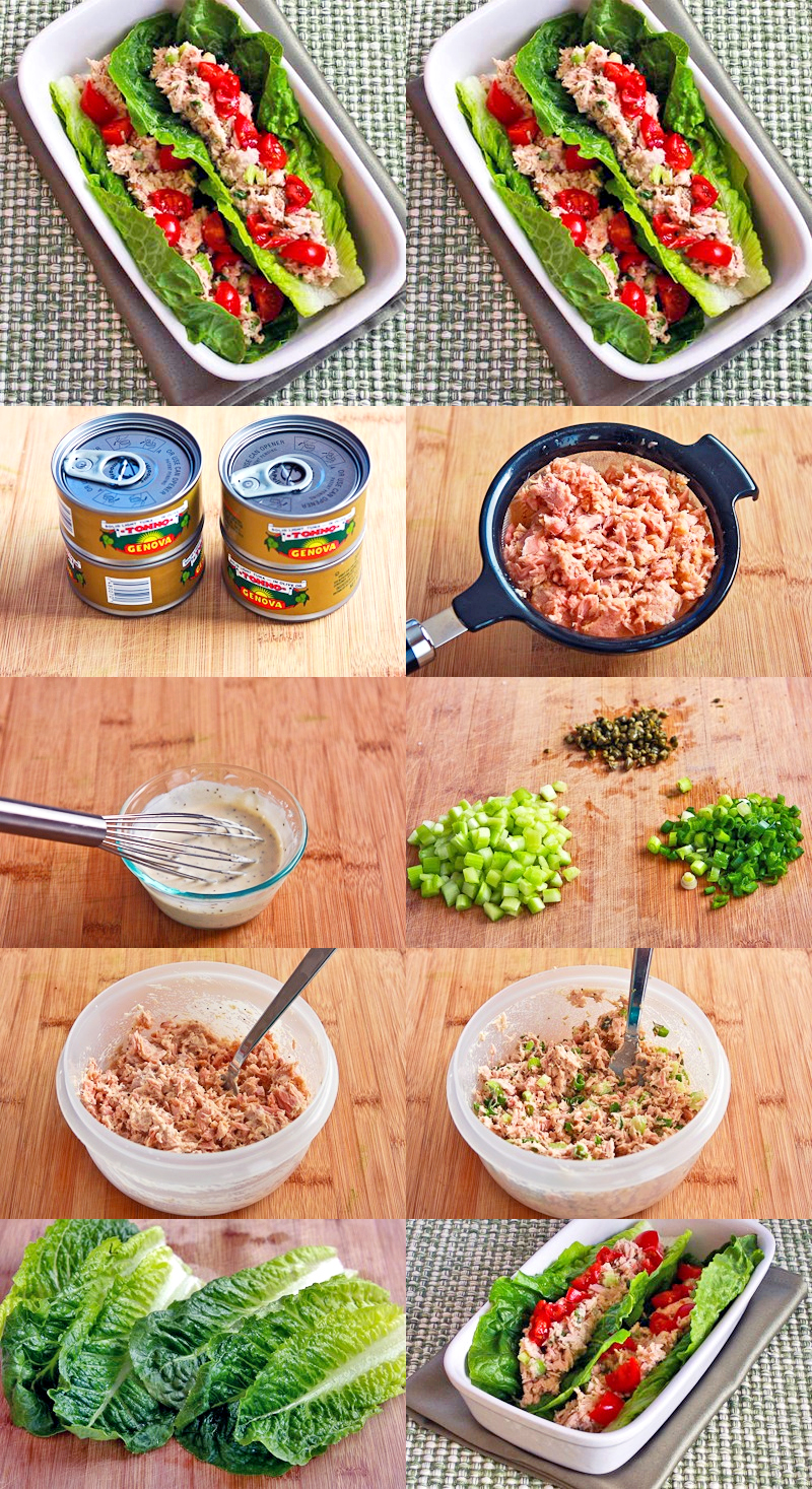 Tuna Salad Lettuce Wraps With Capers And Tomatoes Recipes ...
