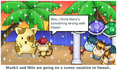 Fluff friends Milo on Hawaii