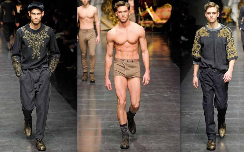 BamBam, fashion, Men, Maison, dolce & gabbana, 2012, 2013, embroidery, baroc