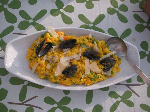 Risotto med musslor