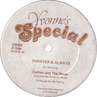 Carlton & The Shoes - Forever & Always