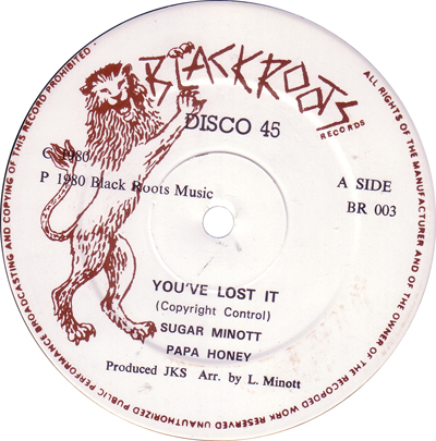 Sugar Minott - You've Lost It