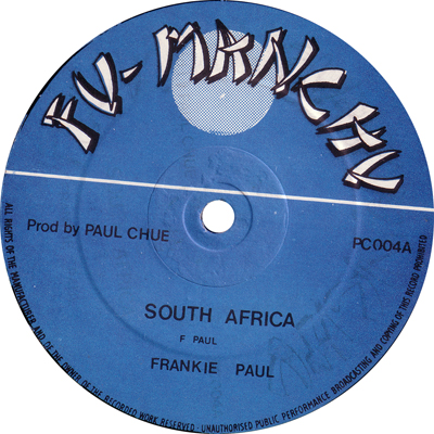 Frankie Paul - South Africa