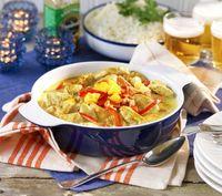 Kycklinggryta med mango och curry.