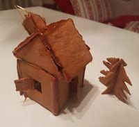 och första pepparkakshuset ever