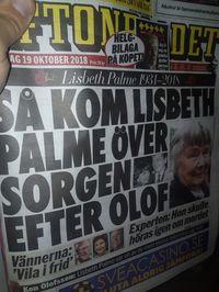 Lisbeth Palme har gått ur tiden...