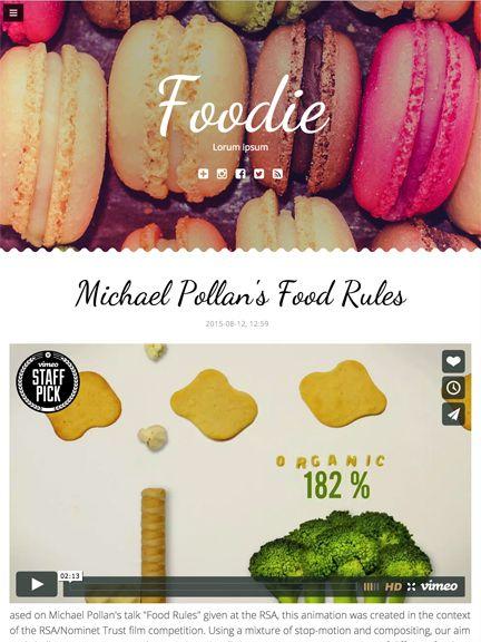 Foodie - tablet