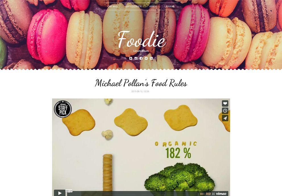 Foodie - browser